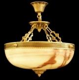 Светильник подвесной из оникса