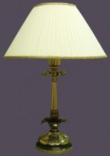 Лампа настольная из оникса абажур из ткани НК-О-30